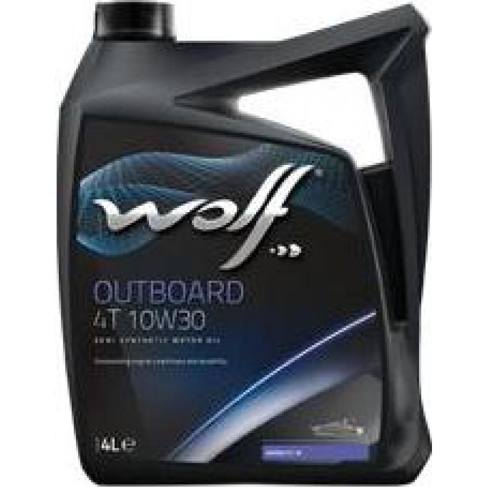 10W30 4T OUTBOARD 4L, Масло для водной техники wolf,
